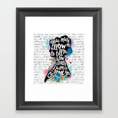 Mr. Darcy - Ardently Admire & Love You Framed Art Print