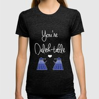 You're Dalek-table Docto… Womens Fitted Tee Tri-Black SMALL