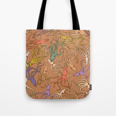 Squids of the inky ocean - retro colorway Tote Bag