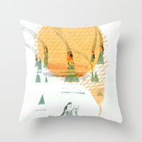 Beach House - Norway Throw Pillow