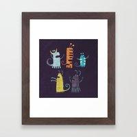Secretly Vegetarian Mons… Framed Art Print