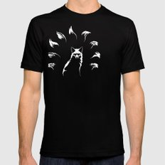 Nine-Tailed Fox, Kitsune Black Mens Fitted Tee SMALL