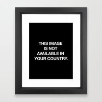 This image is not available in your country Framed Art Print