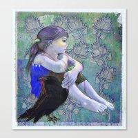 Crow´s Secret Canvas Print