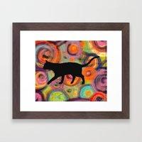 Psychedelic Cat 2 Framed Art Print