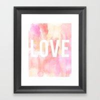 Brushed Love Framed Art Print