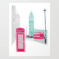london Art Prints featuring London  by bluebutton studio