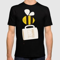 Need. Coffeee. Now. SMALL Mens Fitted Tee Black