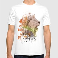 LionHeart Mens Fitted Tee White SMALL