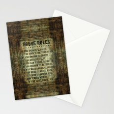 House Rules - read em an weep! no excuses tolerated! Stationery Cards