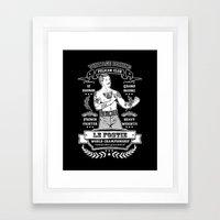 Vintage Boxing - Black Edition Framed Art Print