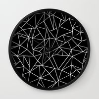 Abstraction Outline Blac… Wall Clock