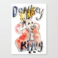 Donkey King Canvas Print