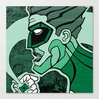 Emerald Flashlight Canvas Print