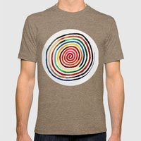 Spiral Mens Fitted Tee Tri-Coffee SMALL