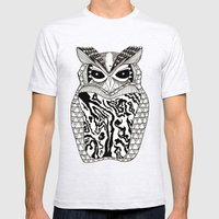 YMMY OWL Mens Fitted Tee Ash Grey SMALL