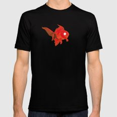 Moirè Goldfish SMALL Mens Fitted Tee Black