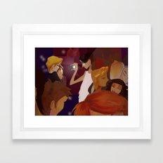 Nightlife NYC - Flash Framed Art Print