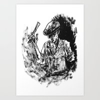 One Armed Gangster Art Print