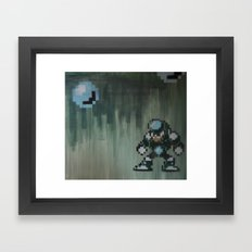 Crystal man (megaman 5) Framed Art Print