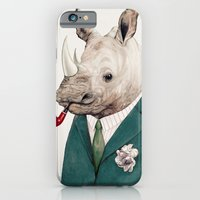 iPhone & iPod Case featuring Rhinoceros by Animal Crew