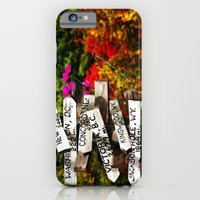 iPhone & iPod Case featuring Signpost in the Fall by Biff Rendar