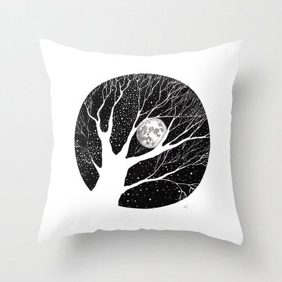 moonlight shadow Throw Pillow
