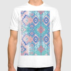 jemez in opal White SMALL Mens Fitted Tee