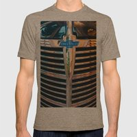 Old Chevrolet Mens Fitted Tee Tri-Coffee SMALL