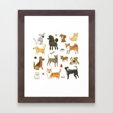 Who let the dogs out? Framed Art Print