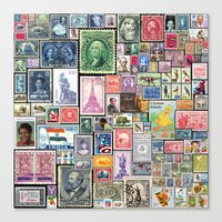 Stamps  |  Collage Canvas Print