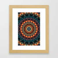 Fundamental Spiral Framed Art Print
