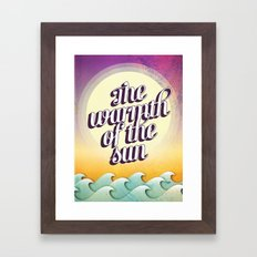 The Warmth of the Sun Framed Art Print