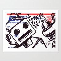 Roboholic Art Print