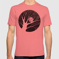 Moonlight Shadow Mens Fitted Tee Pomegranate SMALL