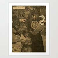 Who will it be? Art Print