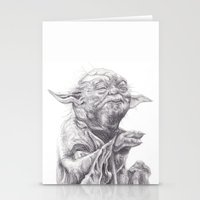 Yoda sketch Stationery Cards