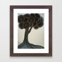 Krishnachura Tree Framed Art Print