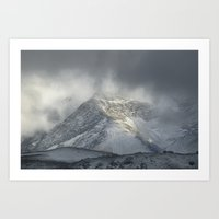 Storm at the mountains Art Print