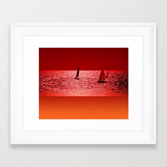 Autumn Ocean 2 Framed Art Print