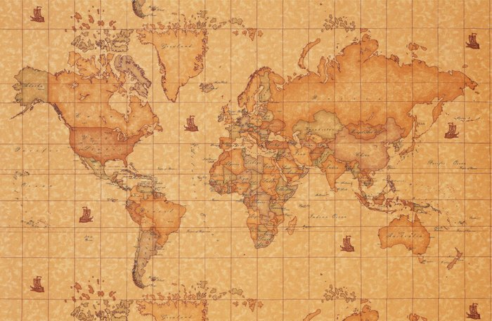 World Map Leather Canvas Print By Bogiatzi Society6