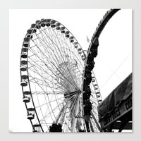 At The Fair: Round And R… Canvas Print