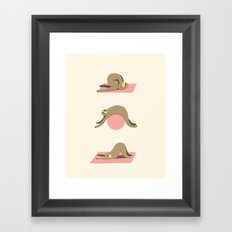 Sloth pilates Framed Art Print