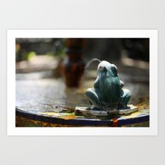 Señor Frog  Art Print