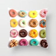 Throw Pillow featuring Donuts by Lyre Aloise