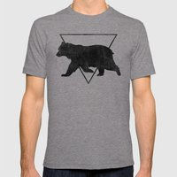 Bear & Bravery Mens Fitted Tee Tri-Grey SMALL