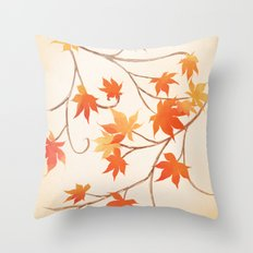 Autumn Leaves are like Flowers Throw Pillow