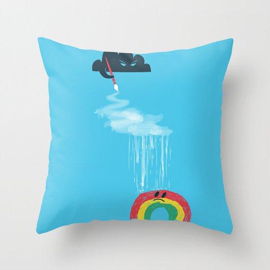 Rain Rain Go Away Throw Pillow