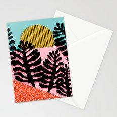 B.F.F. - throwback 80s style memphis design neon art print hipster brooklyn palm springs resort patt Stationery Cards