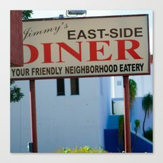 #JIMMY`S DINER  - USA by Jay Hops Canvas Print